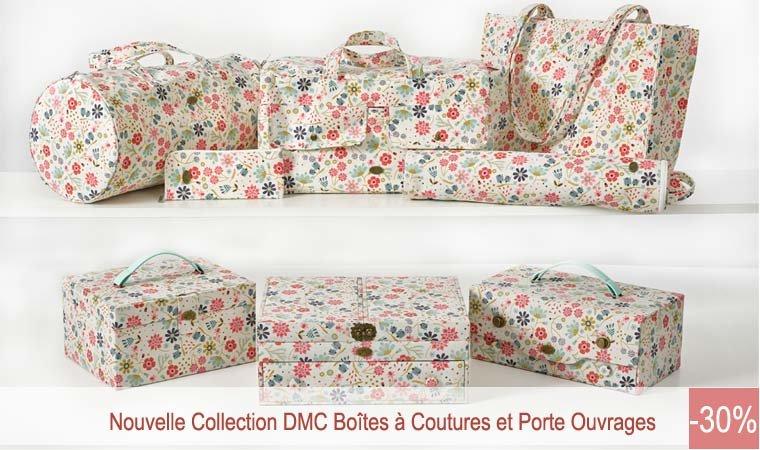 Creamagic broderie point de croix canevas fils dmc for Boite couture dmc