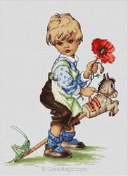 Kit au point de croix compté Luca-S jeune cavalier