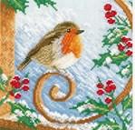 Proud Robin sur toile aida - Lanarte