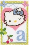 Hello Kitty lettre A - Vervaco