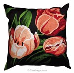 Coussin tulipes - Margot