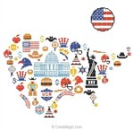 Carte USA - Marie Coeur