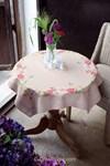 Nappe fleurs roses avec papillons - Vervaco
