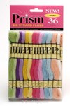 Fil coton prism 6 brins pastel - Paquet de 36 échevettes - DMC