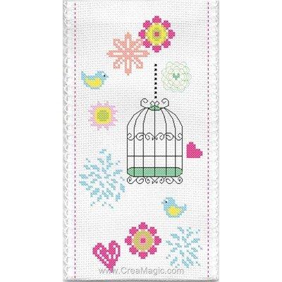 Etui à lunette Cage à oiseaux - Princesse