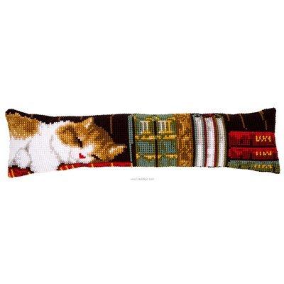 Bas de porte Chat dormant sur étagère - Vervaco