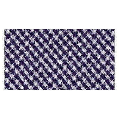 Biais vichy coton rouleau 20M replié en 2 de largeur 20-9.5mm bleu marine - Fillawant