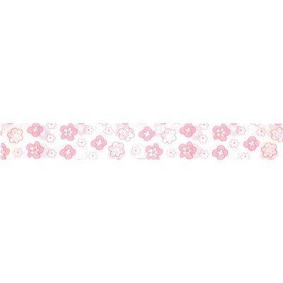 Biais fleurettes rose piécette de 3M replié en 2 de largeur 20-9.5mm - Fillawant