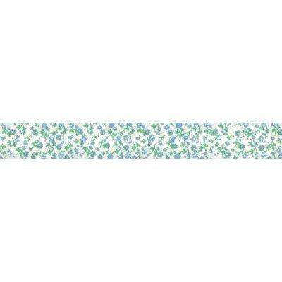 Biais liberty vert  rouleau 20M replié en 2 de largeur 20-9.5mm - Fillawant