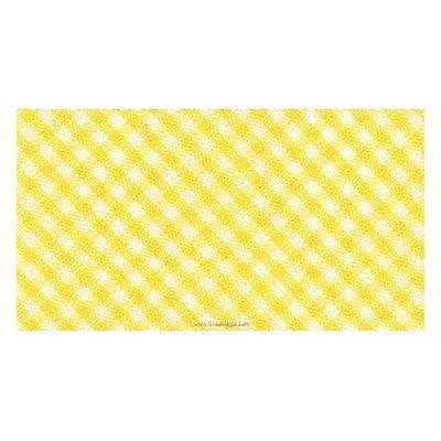 Biais vichy coton rouleau 20M replié en 2 de largeur 20-9.5mm jaune - Fillawant