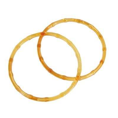 Anse ronde plastique - Couleur Orange - DMC