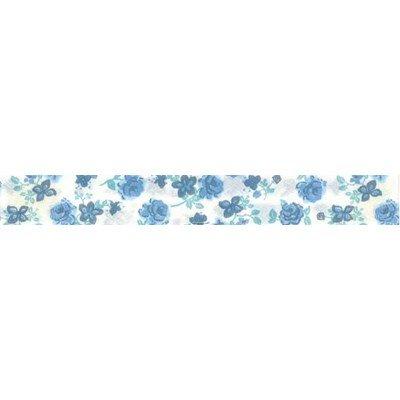 Biais Rose bleu  rouleau 20M replié en 2 de largeur 20-9.5mm - Fillawant