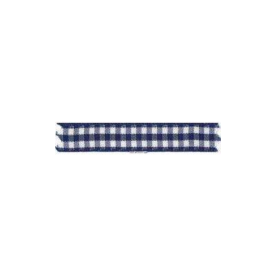 Ruban vichy largeur 10mm bleu marine - Fillawant