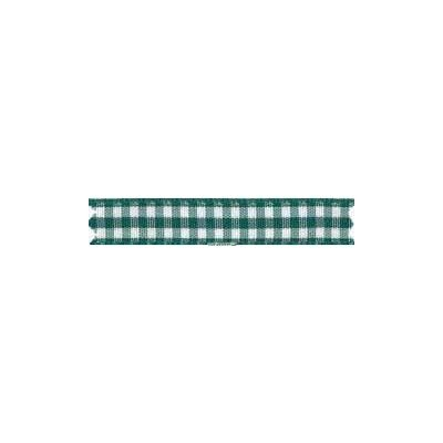 Ruban vichy largeur 10mm vert fonce - Fillawant