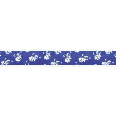 Biais lutins bleu marine rouleau 20M replié en 2 de largeur 20-9.5mm - Fillawant