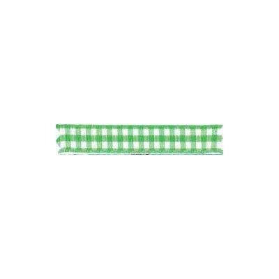 Ruban vichy largeur 15mm Vert - Fillawant