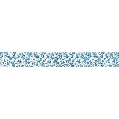 Biais liberty bleu rouleau 20M replié en 2 de largeur 20-9.5mm - Fillawant