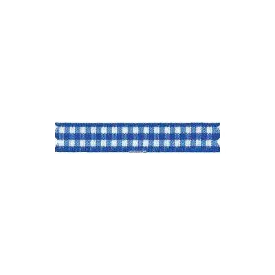 Ruban vichy largeur 15mm bleu - Fillawant