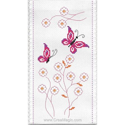 Etui à lunette Papillons et fleurs - Princesse