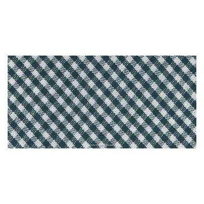 Biais vichy coton rouleau 20M replié en 2 de largeur 20-9.5mm Vert - Fillawant