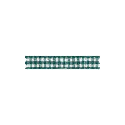 Ruban vichy largeur 25mm vert fonce - Fillawant