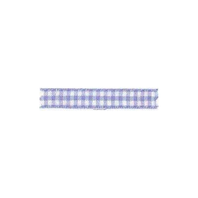 Ruban vichy largeur 25mm Violet - Fillawant