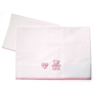 Drap + oreiller rose Mon petit coeur - DMC