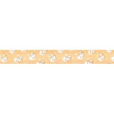 Biais lutins jaune rouleau 20M replié en 2 de largeur 20-9.5mm - Fillawant
