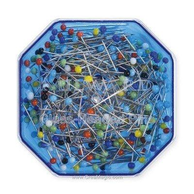 Les épingles tête en verre 25g 30x0.60 mm - Milward