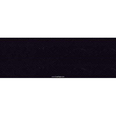 Biais Jersey coton Bob 20M replié en 2 de largeur 20-9.5mm - Noir - Fillawant