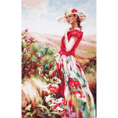 Demoiselle à la robe aux fleurs - Luca-S