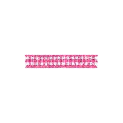 Ruban vichy largeur 10mm Rose fonce - Fillawant