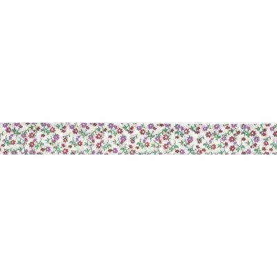 Biais liberty rose rouleau 20M replié en 2 de largeur 20-9.5mm - Fillawant