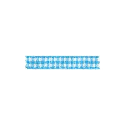 Ruban vichy largeur 25mm Bleu ciel - Fillawant