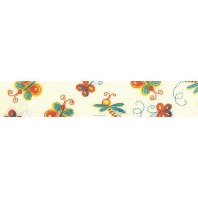 Biais papillons 1 rouleau 20M replié en 2 de largeur 20-9.5mm - Fillawant