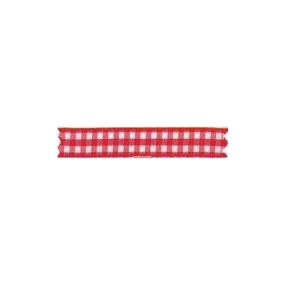 Ruban vichy largeur 10mm Rouge - Fillawant
