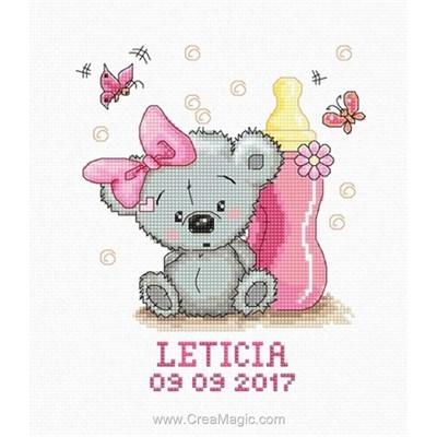 Doudou et biberon rose - Luca-S