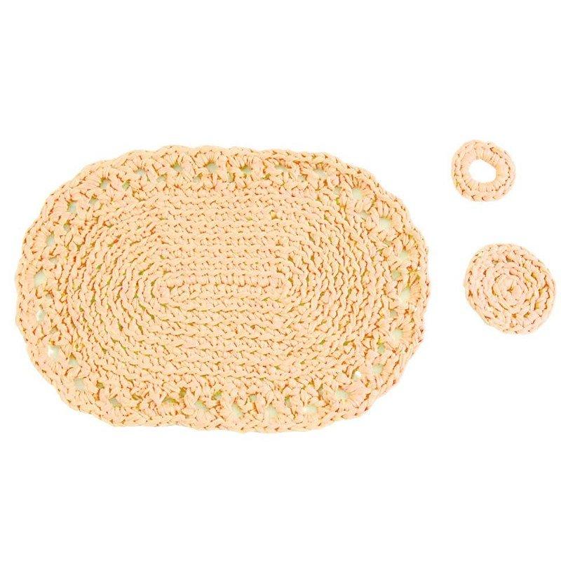 set de table piemonte couleur beige cr037k1 tricot crochet kits hooked zpagetti. Black Bedroom Furniture Sets. Home Design Ideas