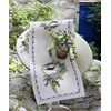 Chemin de table brid and blue flowers runner - Anchor - Anchor