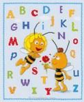 Abc maya l'abeille kit point de croix - Vervaco