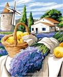 Margot canevas moulin de lavande