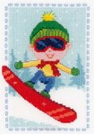 Broderie point de croix le petit snowborder - Vervaco