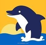 Dauphin sur la mer kit canevas Margot pour débutant