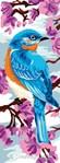 Oiseau bleu du printemps canevas chez Luc Création