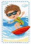 Point de croix le petit surfeur de Vervaco