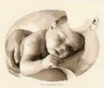 Broderie tableau de naissance Vervaco amour de mère