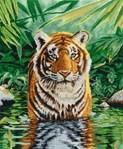 Le bain du tigre kit au point de croix compté - DMC