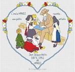 Le coeur hansi diagramme au point de croix - Anagram