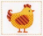 Poule jaune kit au point de croix compté - Vervaco