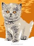 Chaton aux yeux d'or kit canevas débutant - Luc Création